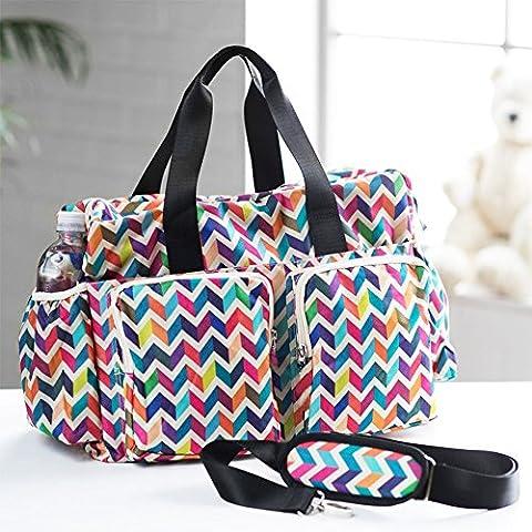 Sac de maman à grande capacité de drapeau de couleur, sac de voyage, paquet de voyage de maman, paquet de loisirs, sac de bébé