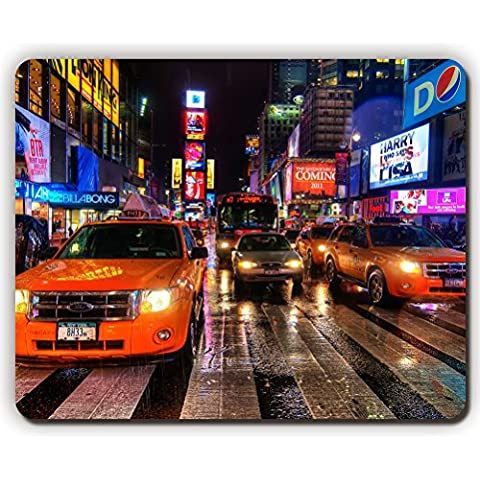 high quality mouse pad,new york night taxi pedestrian crossing,Game Office MousePad size:260x210x3mm(10.2x 8.2inch)