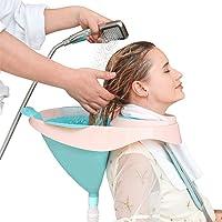 MTBASIN Portatile Lavelli per Shampoo Lavatesta Portatile Ciotola Parrucchiere Mobile Letto Bagno Ciotola per Lavare…