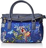 Desigual Damen Bols_birdpalm Loverty Henkeltasche, Blau (Marino), 14x24x33 cm