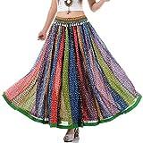 Langer Hippie Batik Patchwork Zigeuner Rock 36 38 40 42 S M