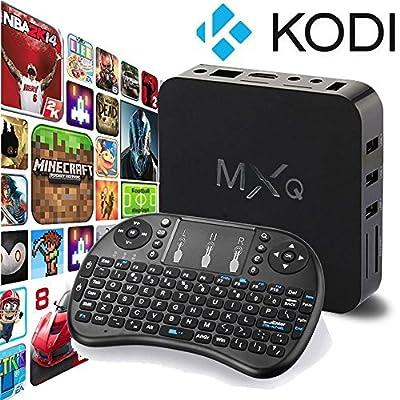 Eleacc Android TV Box Kodi HD Streaming Media Player MXQ Wifi 8GB Quad Core - Free Movies and TV (WITH KEYBOARD)