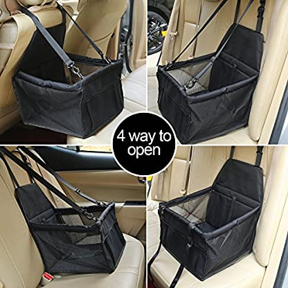 Aandyou Pet Car Booster Seat Breathable Waterproof Pet Dog Car Supplies Travel Pet Car Carrier Bag Seat Protector Cover… 3