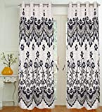 Threadmix Blue Polyester Door Curtain (7...