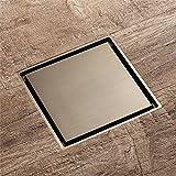 Haixin Bodenablauf, Geruch-Nachweis Stealth-Dusche Entwässerung, alle Kupfer rostfrei-Stock mit Abfluss Filternetz. 100mmx100mm