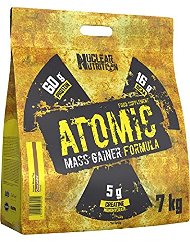 Nuclear Nutrition Atomic Mass 7000g - Strawberry Banana - MASS GAINER - WEIGHTGAINER - MASSE (Masse 60 Strawberry)