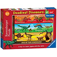 Ravensburger Deadliest Dinosaurs, 60pc Giant Floor Jigsaw Puzzle