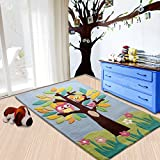 Littlelooms The Speaking Tree Rugs For Crawling Rattle Play Baby Carpet Multifuntion Play Mat For Toddler Kids Play Room Home Decor For Nursery Kids Room 0-12 Years 3 X 5 (Feet)