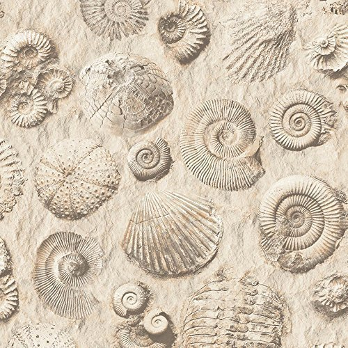muriva-fossil-pattern-stone-shell-motif-faux-effect-embossed-vinyl-wallpaper-brown-j86208
