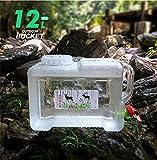 Benbroo 5L/7,5l/12L/18L/22L Wasser Aufbewahrung Eimer Quartet Outdoor Wasserreservoir Fahrzeug Auto Mineral Lebensmittelqualität Camping Catering Couchtisch, 12L-White