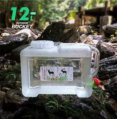 Benbroo 5 l / 7,5 l / 12 l / 18 l / 22 l Wasserspeicher Quartett, Outdoor-Wasserspeicher, für Fahrzeuge, Auto, mineralische Lebensmittel, Camping, Catering, Couchtisch, etc., 12L-White