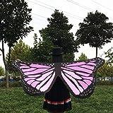 Overdose 145 * 65CM Frauen Weiche Gewebe Schmetterlings Flügel Schal feenhafte Damen Nymphe Pixie Kostüm Zusatz (145 * 65CM, C) -