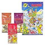 Haribo Natale Set, Calendario dell' Avvento, Confetti, caramelle gommose Schiuma zucchero, gomma Orso