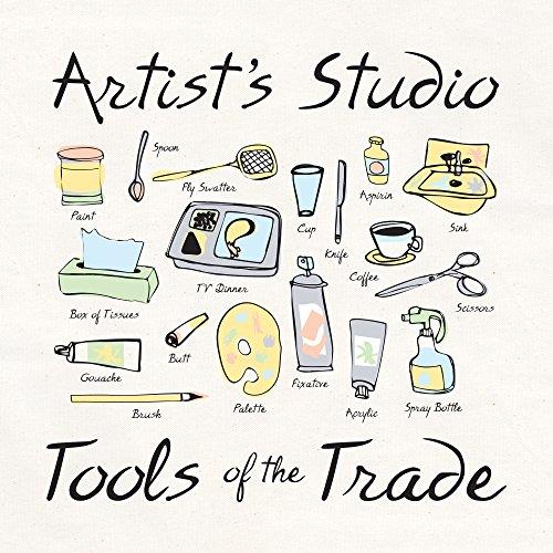 L.A. Imprints Attitude Artist Apron Natural-Artist's Studio