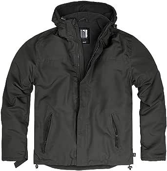 bw-online-shop Zip Windbreaker Men's Hooded Rain Jacket