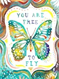Oopsy Daisy canvas Wall Art you are free to Fly by Katie Daisy, 18da 61cm