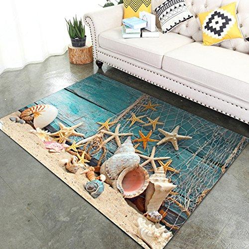 KELE 3D Teppich Schlafzimmer,Kompletter Shop,Crawlen,Pad Tropfen, Maschine Waschbar,Teppich am Bett-I 20x31inch (Teppich Reinigung-maschinen Dampf)