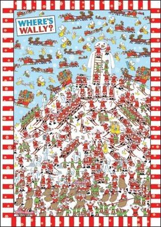 Advent Calendar - Where's Wally - a glitter Christmas advent calendar