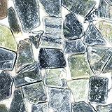 Mosaik Fliese Marmor Naturstein Bruch Ciot grau-grün für BODEN WAND BAD WC DUSCHE KÜCHE FLIESENSPIEGEL THEKENVERKLEIDUNG BADEWANNENVERKLEIDUNG Mosaikmatte Mosaikplatte