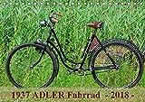 1937 ADLER Fahrrad (Tischkalender 2018 DIN A5 quer): Adler Damenfahrrad von 1937 (Monatskalender, 14 Seiten ) (CALVENDO Kunst) [Kalender] [Apr 01, 2017] Herms, Dirk