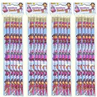 12 Pink Pirate full length pencils.Eraser top.party bag fillers,teachers rewards by Playwrite
