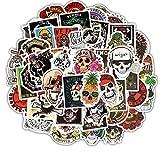 YGSAT Aufkleber Pack [100-pcs] Farbe Schädel Kopf Graffiti Sticker Vinyl Stickers Zufälliger Aufkleber für Vintage Hippie Pop Art Sticker Set für Auto Motorrad Fahrrad Skateboard