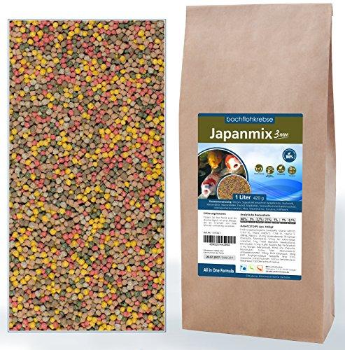 Japanmix Koifutter – 3mm – 1 l Koipellets