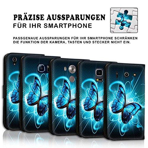 Wallet Book Style Flip Handy Tasche Case Schutz Hülle Schale Motiv Etui für Apple iPhone 6 Plus / 6S Plus - Variante UMV3 Design12 Design 9