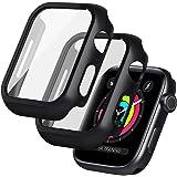 [2 Pack] seacosmo funda Anti-arañazos General para Apple Watch 44 mm Series SE/6/5/4 [con Vidrio + TPU Protectora de Pantalla