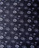 Multifunctional Headwear Black with White Flowers