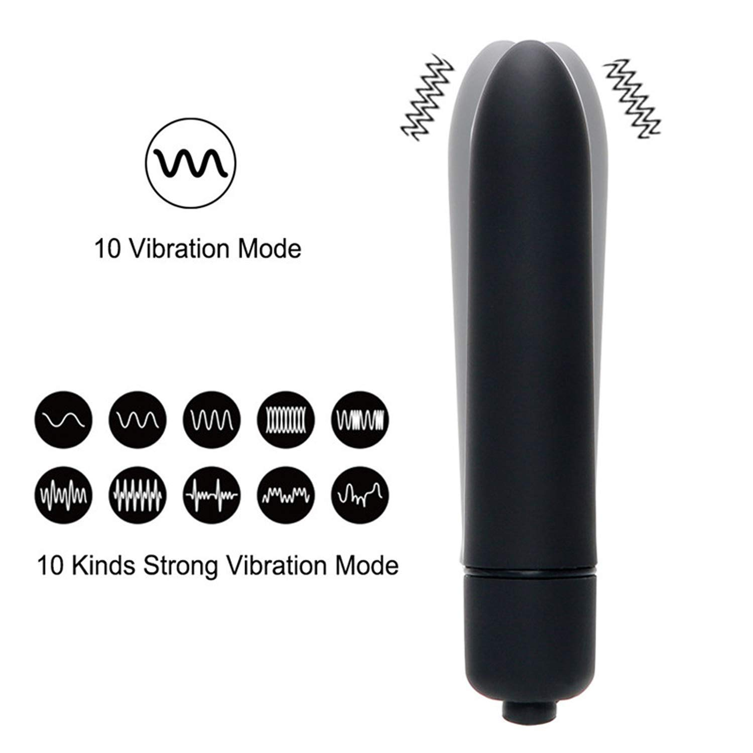 Discreet Bullet Vibrator Powerful 10-Speed G-Spot Stimulator 100% Waterproof