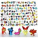 Lote Colección de 144 piezas personajes de Pokemon de plastico diferentes 4411
