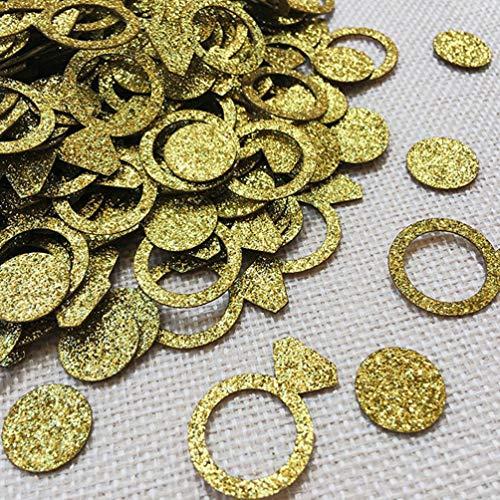 Toyandona Diamant-Ring, Bachelorette, Party-Konfetti, Verlobungsringe, Party, Valentinstag, Hochzeit, Brautschmuck, 100 Stück