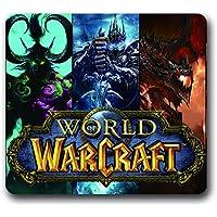 Tappetino per mouse da gioco, in gomma antiscivolo, con motivo a tema World Of Warcraft (World Of Warcraft Mouse Pad)