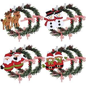 8 Piezas Coronas de Navidad