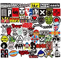 Sanmatic Rock and Roll Sticker 100Pcs, Sticker Bomb Pack para Guitar Drum Headphones Laptop Music Sticker