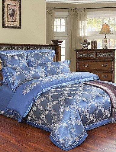 GAOHAIFQ®, quattro pezzi tuta,l'acquisto di biancheria da letto blu classico