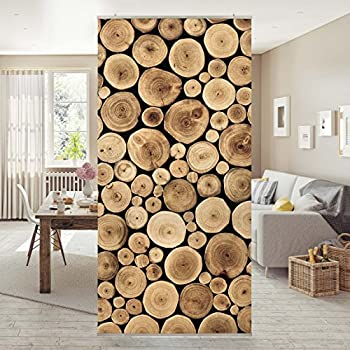 fl chenvorhang set no yk15 birkenwand b ume wald holz baumst mme birken 250x120cm. Black Bedroom Furniture Sets. Home Design Ideas