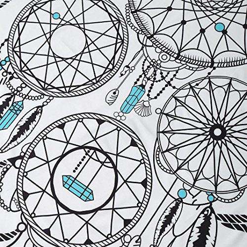 Retro Strandtuch Rund, Asnlove Rundes Strandtuch Traumfänger Polyestergewebe Badetuch Rund Sunscreen Schal Wandteppich Wickelrock Yoga-Matte Indischen Handtuch Für Outdoor Und Innen Dekoration