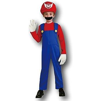 03b7db34f357 Mario Classic Costume, Kids Super Mario Outfit, Medium, Age 7 - 8 ...