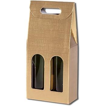 Weinkarton Weinverpackung 10 St/ück 1er-X-Line Tragekarton Korbgeflecht Flaschenkarton Tragetasche