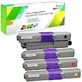4 Colori Cartucce di Toner Compatibile C332 MC363 GREENPRINT 3500 Pagine per il Nero e 3000 Pagine per C M Y per OKI Okidata