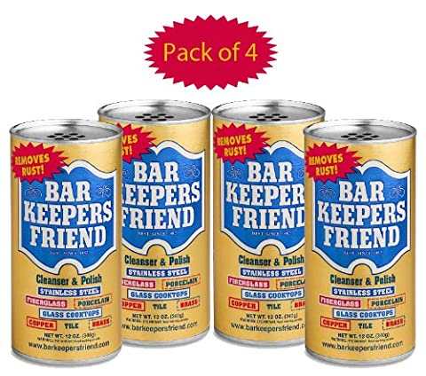 Bar Keepers Friend? Cleanser & Polish 12 Oz (Pack Of 4) by Bar Keepers (Bar Keepers)