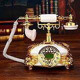 Unbekannt Telefon Villa Deluxe Festnetztelefon Continental Retro Vintage Antikes Telefon Schöne türkische TV-Telefon Telefon aus massivem Holz (Farbe : Hands-free version)