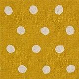 echino Fabrics Senfgelbes Wachstuch mit naturfarbenen