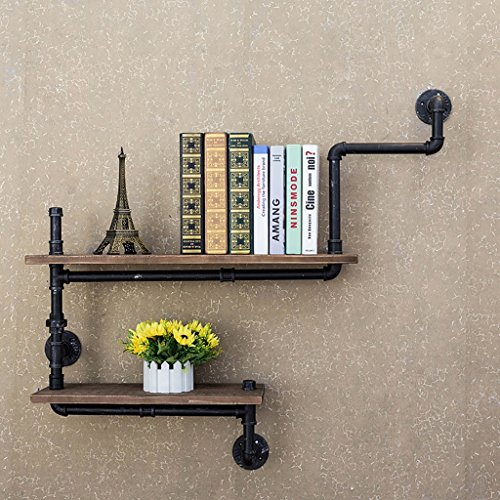Intashj Deko Wandregal Loft Retro Eisen Bucherregal Industrial Style