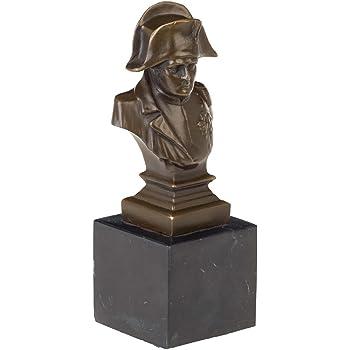Metalware Bronzeskulptur Büste Kaiser Napoleon Antik-Stil Bronze Figur Statue 20cm Bronze