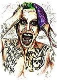 JOKER TATTOO BUNT Arm Oberarm Tattoo Fake Tattoo KM141