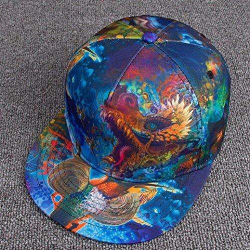c84854481b736 Gorras Beisbol ZARLLE Hombre Mujer Sombrero De Snapback Plano Al Aire Libre  Flor Hip-Hop Gorra De BéIsbols Viseras ImpresióN A Color PatróN Sombrero  Gorras ...