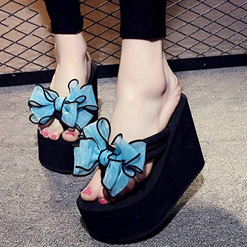 Estate Sandali 12 cm  Female antisdrucciolevoli spessi pattini della spiaggia di sabbia arco dolce sandali scarpe casual 9 tipi di colori Colore / formato facoltativo #9